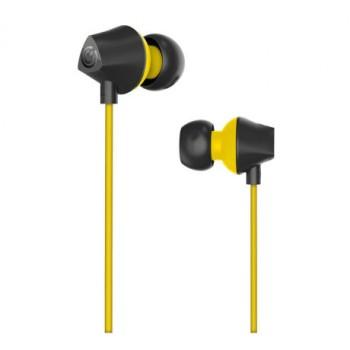 SONIC GEAR NEO PLUG TREON IN EAR HEADPHONE BLACK YELLOW