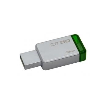 KINGSTON 16GB DATATRAVELER DT50 USB 3.1 FLASH DRIVE - GREEN