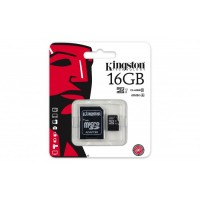 KINGSTON 16GB MICRO SDHC CLASS 10 UHS-I WITH ADAPTER